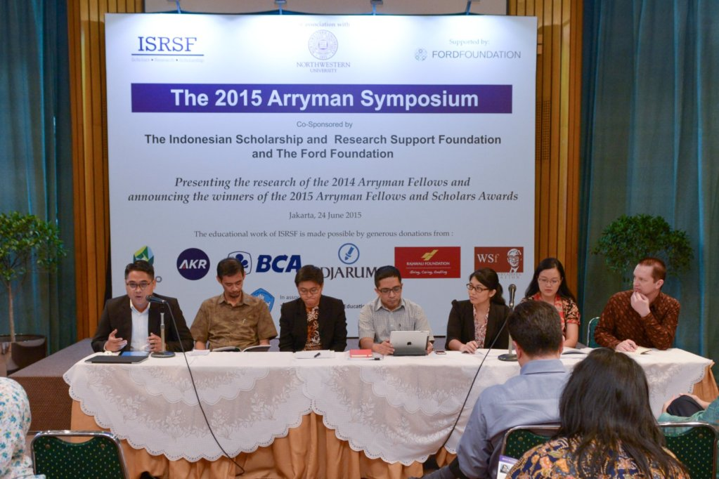 2015 Arryman Fellows Symposium,Jakarta 24 June 2015